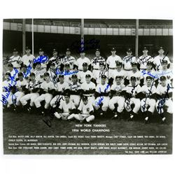 1956 New York Yankees 8x10 Photo Team-Signed by (25) with Mickey Mantle, Whitey Ford, Yogi Berra, Do
