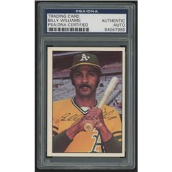Billy Williams Signed 1976 SSPC #496 (PSA Encapsulated)