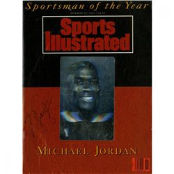 "Michael Jordan Signed 1991 ""Sportsman of the Year"" Sports Illustrated Magazine (PSA)"