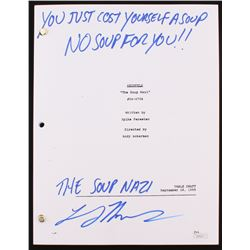 "Larry Thomas Signed ""Seinfeld: The Soup Nazi"" Full Episode Script Inscribed ""You Just Cost Yourself"