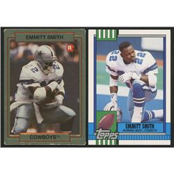 Lot of (2) Emmitt Smith Baseball Cards with 1990 Topps #27T  1990 Action Packed #34