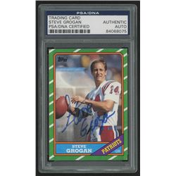 Steve Grogan Signed 1986 Topps #31 (PSA Encapsulated)