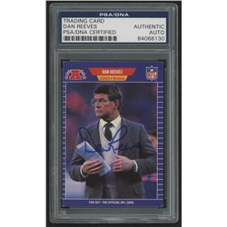 Dan Reeves Signed 1989 Pro Set #114 CO (PSA Encapsulated)