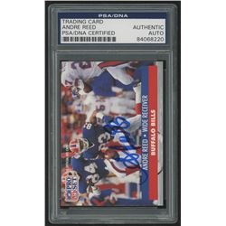Andre Reed Signed 1991 Pro Set #81 (PSA Encapsulated)