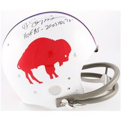 "O.J. Simpson Signed Bills Throwback Suspension Full-Size Helmet Inscribed ""HOF 85 - 2003 Yds '73"" (J"