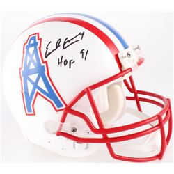 "Earl Campbell Signed Oilers Full-Size Authentic On-Field Throwback Helmet Inscribed ""HOF 91"" (JSA CO"