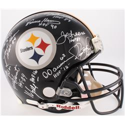Steelers Hall of Fame Combo Full-Size Authentic On-Field Helmet Team-Signed By (12) With Jack Ham, D