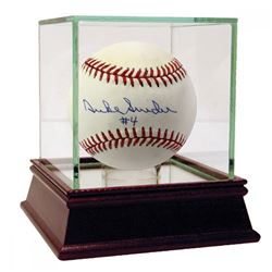 Duke Snider Signed ONL Baseball with High Quality Display Case (JSA)