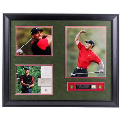 Tiger Woods 2004 SP Signature Signs of a Champion 8x10 #TW2 25.5x31.5 Custom Framed 8x10 Card Displa