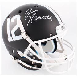 Joe Namath Signed Alabama Crimson Tide Matte Black Full-Size Helmet (Radtke COA)