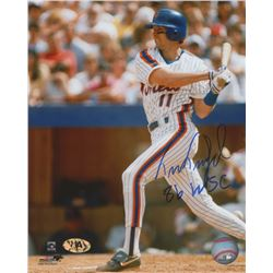 """Tim Teufel Signed Mets 8x10 Photo Inscribed """"86 WSC"""" (MAB Hologram)"""