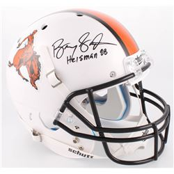 "Barry Sanders Signed Oklahoma State Cowboys Full-Size Helmet Inscribed ""Heisman 88"" (Radtke COA  Sch"