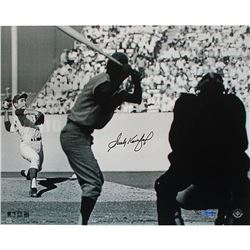 Sandy Koufax Signed Dodgers World Series LE 16x20 Photo (UDA COA  MLB)