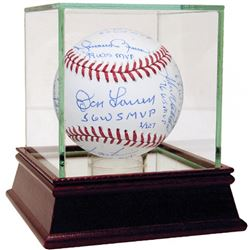 New York Yankees LE World Series MVP MLB Baseball Team-Signed by (11) with Reggie Jackson, Mariano R
