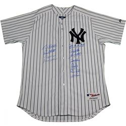New York Yankees Dynasty LE Authentic #6 Pinstripe Jersey Team-Signed by (11) with Joe Torre, Derek