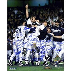 New York Yankees 1996 World Series 16x20 Photo Team-Signed by (23) with Jorge Posada, Andy Pettitte,