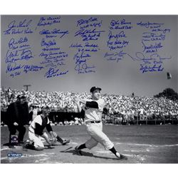 """Yogi Berra Tribute"" 20x24 Metallic Photo Signed by (24) with Jorge Posada, Joe Torre, Bucky Dent, M"