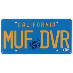 "Cheech Marin  Tommy Chong Signed ""Up in Smoke"" 6x12 License Plate (Beckett COA)"