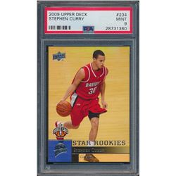 2009-10 Upper Deck #234 Stephen Curry SP RC (PSA 9)