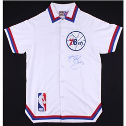 "Julius Erving Signed 76ers Warm-Up Jersey Inscribed ""Dr. J"" (TriStar COA)"