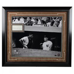 "Yogi Berra  Elston Howard Signed ""Howard Chit and Berra"" LE 20x24 Custom Framed Photo Display (JSA C"