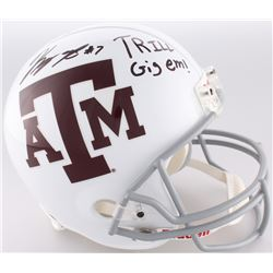 "Kenny Hill  Speedy Noil Signed Texas AM Aggies Full-Size Helmet Inscribed ""Trill Gig Em!"" (JSA COA)"