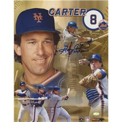 """Gary Carter Signed Mets 8x10 Photo Inscribed """"HOF 2003"""" (Mead Chasky Hologram)"""