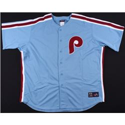 "Mike Schmidt Signed Phillies Career Highlight Stat Jersey Inscribed ""HOF 95"" (MLB Hologram)"