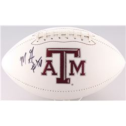 Myles Garrett Signed Texas AM Aggies Logo Football (JSA COA)