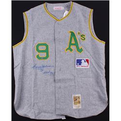 "Reggie Jackson Signed Athletics Jersey Inscribed ""HOF '93"" (Steiner COA)"
