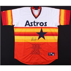 Nolan Ryan Signed Astros Career Highlight Stats Jersey (JSA COA)