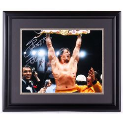 "Sylvester Stallone Signed ""Rocky II"" 17.25x20.25 Custom Framed Photo Display (Online Authentics COA)"