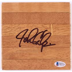 John Calipari Signed Court Floor Piece (Beckett COA)
