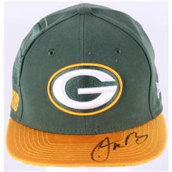 Aaron Rodgers Signed Green Bay Packers Adjustable Hat (Beckett COA)