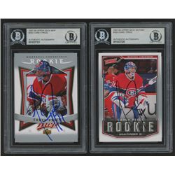 Lot of (2) Carey Price Signed 2007-08 Rookie Hockey Cards with (1) Upper Deck Victory #303  (1) Uppe