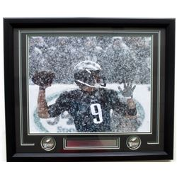 Nick Foles Eagles Snow Bowl 22x27 Custom Framed Photo Display