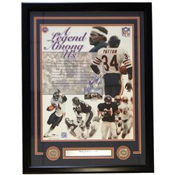 Walter Payton Signed Bears 22x27 Custom Framed Photo Display (PSA LOA)