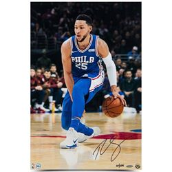 "Ben Simmons Signed LE 76ers ""Handle"" 16x24 Photo (UDA Hologram)"