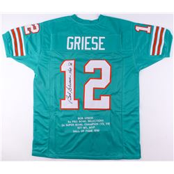 Bob Griese Signed Dolphins Career Highlight Stat Jersey (JSA COA)