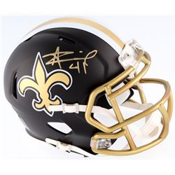 Alvin Kamara Signed Saints Blaze Mini Speed Helmet (JSA COA)