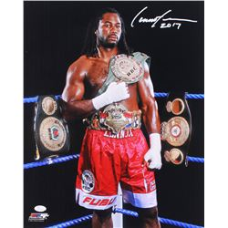 "Lennox Lewis Signed 16x20 Photo Inscribed ""2017"" (JSA COA)"