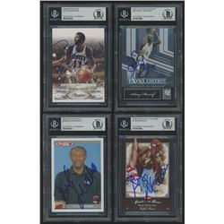 Lot of (4) Signed Basketball Cards with (1) 2004-05 Topps Total #390 Bob Mcadoo CO (1) 2007 Donruss