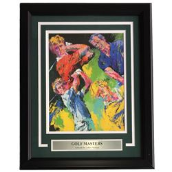 "Leroy Neiman ""Golf Masters"" 16x20 Custom Framed Print Display"