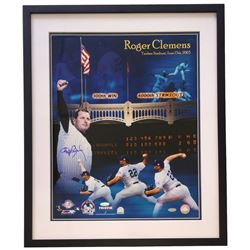 Roger Clemens Signed Yankees 22x27 Custom Framed Photo Display (Steiner COA)