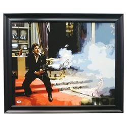 "Al Pacino Signed ""Scarface"" 22x25 Custom Framed Canvas Display (PSA COA)"
