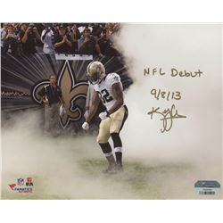 """Kenny Vaccaro Signed 8x10 Photo Inscribed """"NFL Debut 9/8/13"""" (Fanatics Hologram)"""