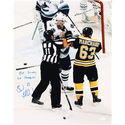 """Brad Marchand Signed Bruins 16x20 Photo Inscribed """"2011 Stanley Cup Champions"""" (JSA COA)"""
