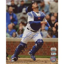 Geovany Soto Signed 8x10 Photo (Mounted Memories  MLB Hologram)
