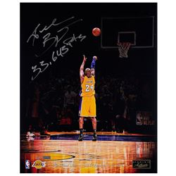 """Kobe Bryant Signed Lakers """"Total Points"""" 16x20 LE Photo Inscribed """"33,643 Pts"""" (Panini COA)"""
