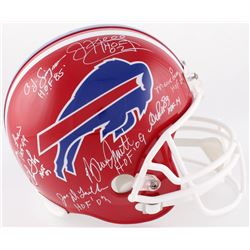 Bills Hall of Famers Full-Size Helmet Team-Signed By (8) With O.J. Simpson, Mark Levy, Jim Kelly, An